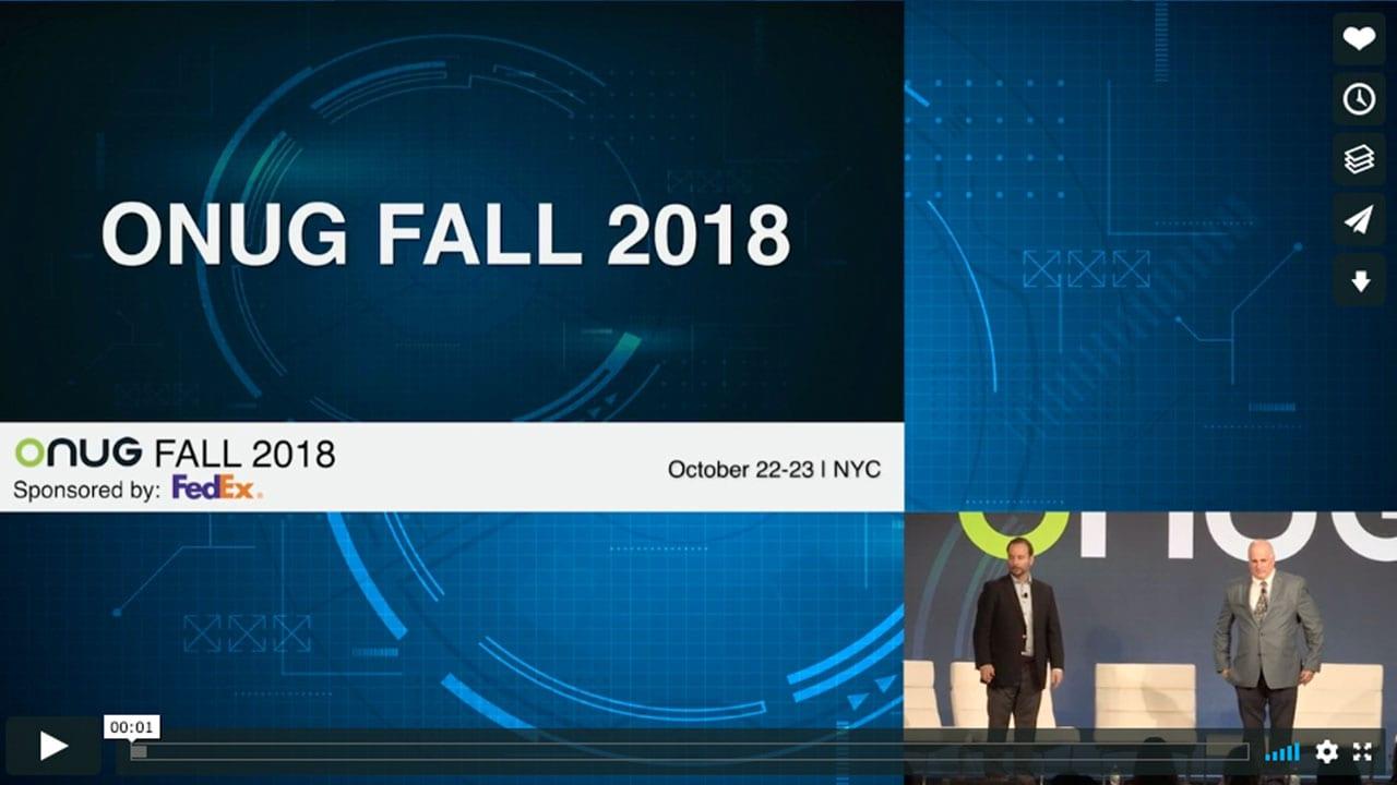 ONUG - onug fall 2018