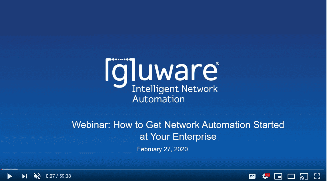 Webinars - Webinar 022720 How to Get Network Automation Started thumbnail
