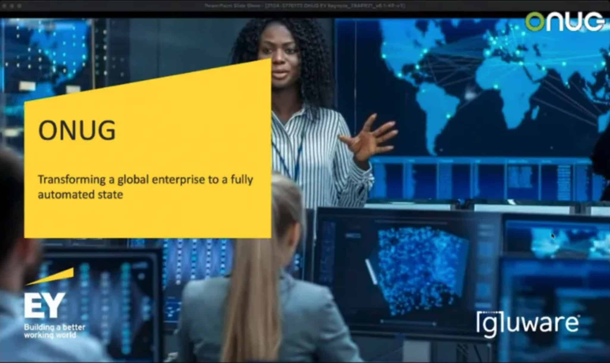 Intelligent Network Automation for the Cloud Era™ - onug ey ss